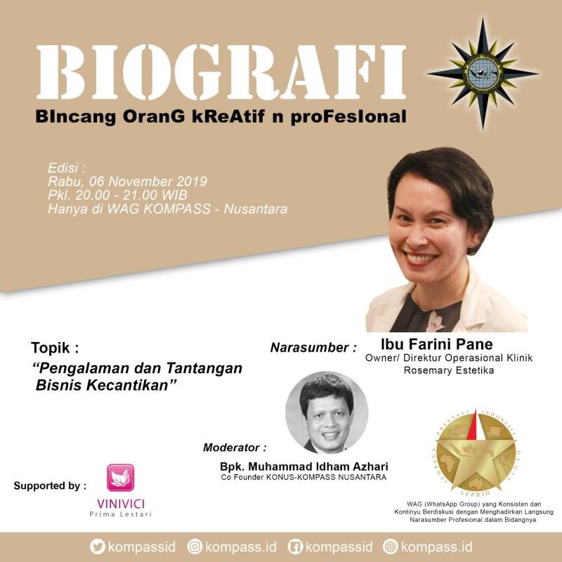 Program BIOGRAFI KOMPASS Nusantara 6 November 2019