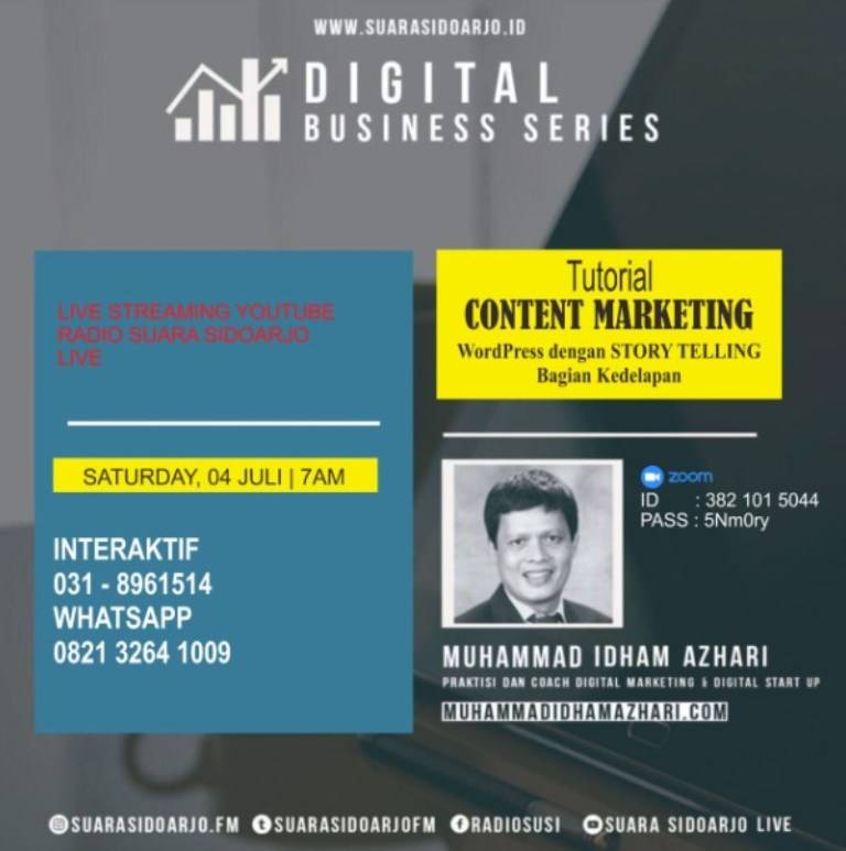 DIGITAL BUSINESS SERIES Muhammad Idham Azhari 04 Juli 2020 Edisi ke-66