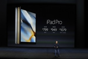 SAN FRANCISCO, CA - SEPTEMBER 9: Apple Senior Vice President of Worldwide Marketing Phil Schiller speaks on the new iPad Pro during a Special Event at Bill Graham Civic Auditorium September 9, 2015 in San Francisco, California. Apple Inc. is expected to unveil latest iterations of its smart phone, forecasted to be the 6S and 6S Plus. The tech giant is also rumored to be planning to announce an update to its Apple TV set-top box. (Photo by Stephen Lam/ Getty Images)