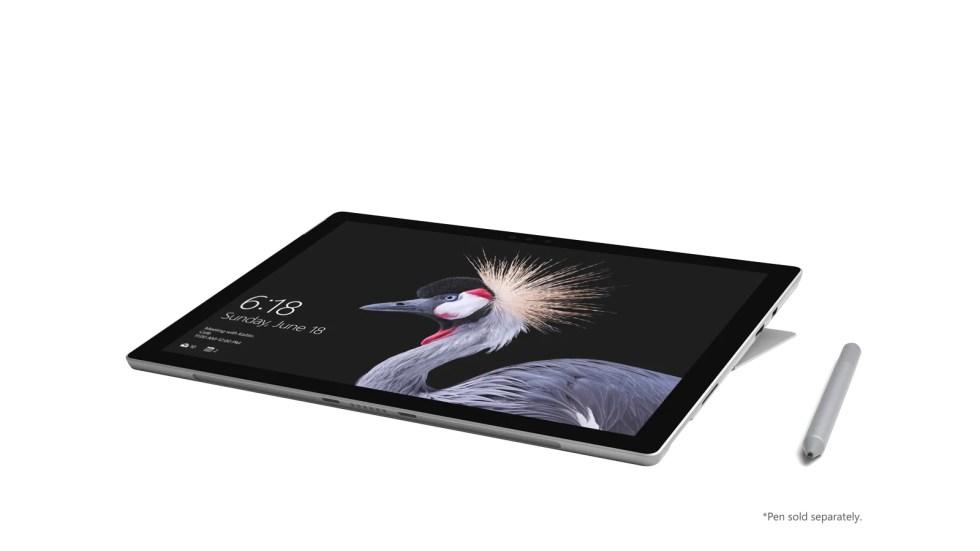 Microsoft Surface Pro bilde av skjermen med Surface-penn på høyre side