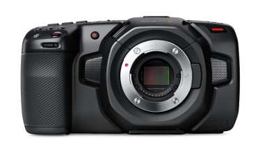 Blackmagic pocket 4K cinema camera. Image obtained with thanks from Blackmagic Design.