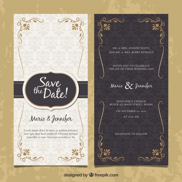 Desain Undangan Pernikahan Elegan Minimalis Dan Simple Download