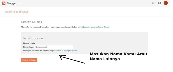 cara membuat blogger mudah untuk pemula