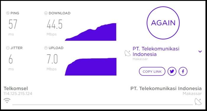 Cara Mengetahui Kecepatan Internet mudah