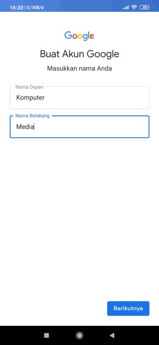buat gmail tanpa nomor telepon