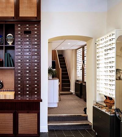 Butikskoncept för Bågar och Glas, optiker