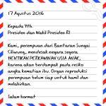 Surat Perempuan untuk Presiden Jokowi di Hari Kemerdekaan