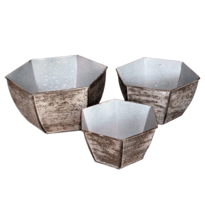 table top metal planters
