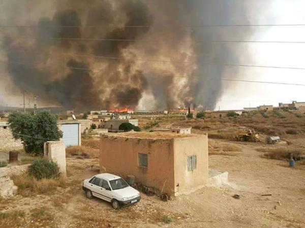 Islamic State Scorched Earth Policy, Kobane Canton-Syria, May 2015