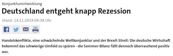 Deutschland Rezession - Bildquelle: Schreenshot-Ausschnitt www.tagesschau.de