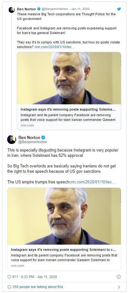 Tweet Ben Norton - Bildquelle: Screenshot-Ausschnitt Twitter