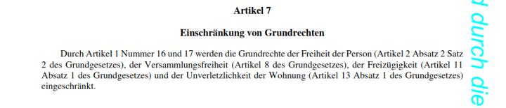 Einschränkung Grundrechte - Bildquelle: Screenshot-Ausschnitt PDF