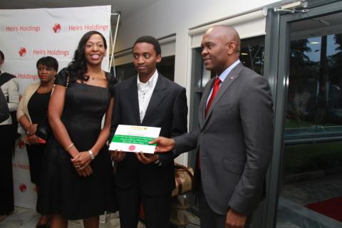 Biola Alabi, nominee and Tony Elumelu