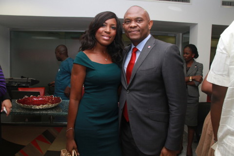 Linda Ikeji and Tony Elumelu (1)