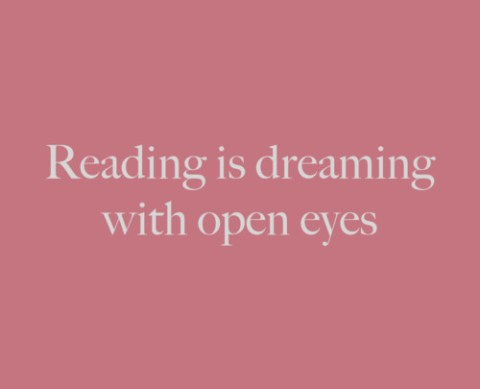 Reading is dreaming with ...