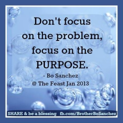 don't focus on the problem