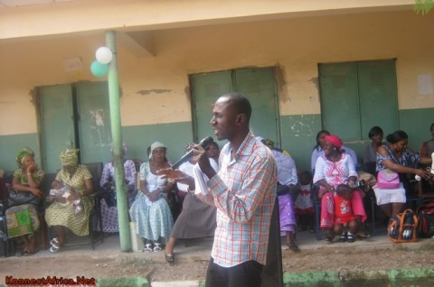 Speaking at the Career Seminar in a Junior Secondary School, Gosa Abuja-FCT.