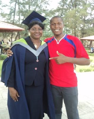 Mrs Tomilola Omesu with Igbinedion Kingsley Osaro