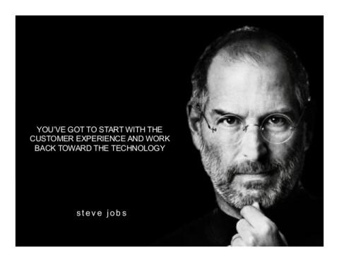 steve jobs. Customers Remember Experiences
