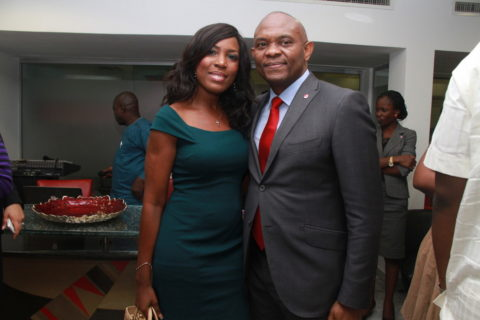 Linda Ikeji and Tony Elumelu (1) Uduak Ubaks Blog On Hardwork
