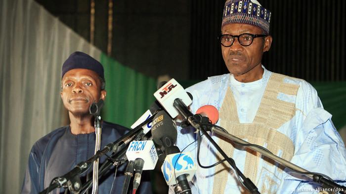 Nigerian President M. Buhari and Vice President Yemi Osinbajo