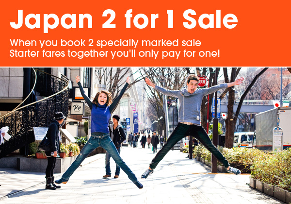 How to Book Your Flights to Japan: Jestar's 2 for 1 Sale to Japan