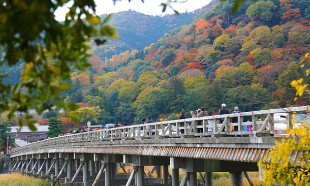 The Budget Traveller's Guide to One Week in Kyoto - Togetsukyo Bridge