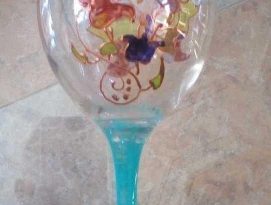 peinture et gravege sur verre