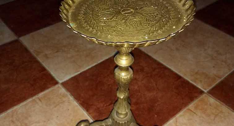 صحن نحاسي للبيض خاص للعروس يوم الحناء من الثرات اليهودي