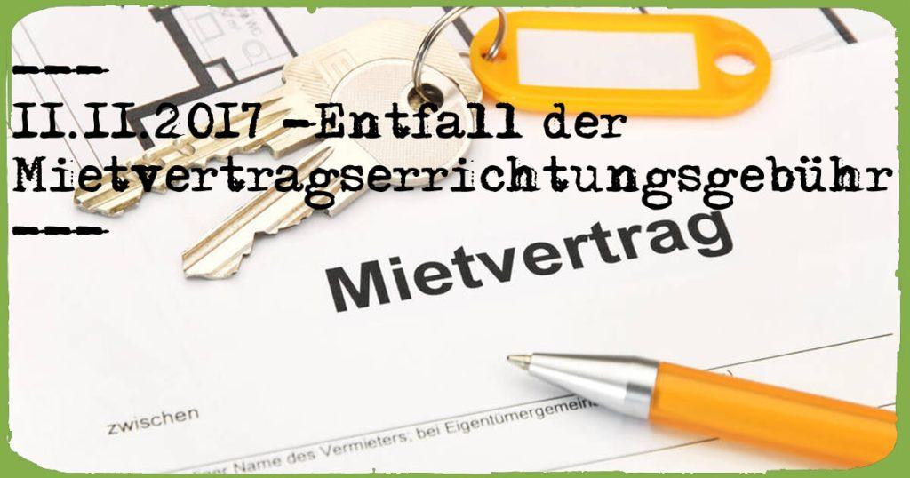 Entfall Mietvertragserrichtungsgebühr | KonradKolbe.com