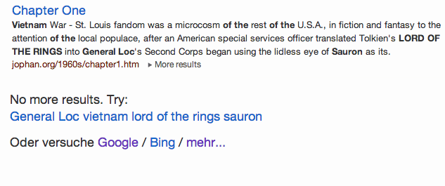 General Loc  vietnam  lord of the rings  sauron bei DuckDuckGo