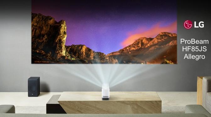 Hardwaretest: LG ProBeam HF85JS Allegro – beam die Wand an