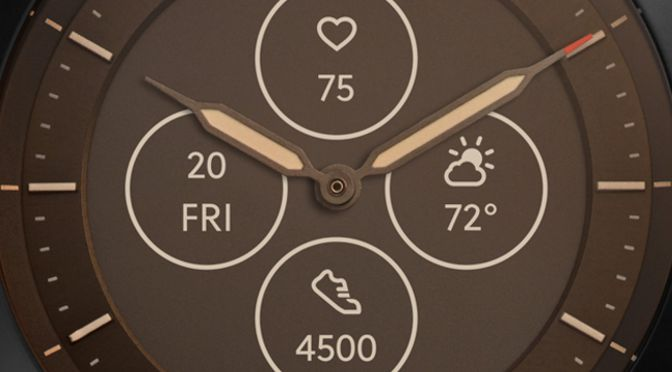 fossil hybrid HR smartwatch face