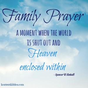 The Power of Family Prayer
