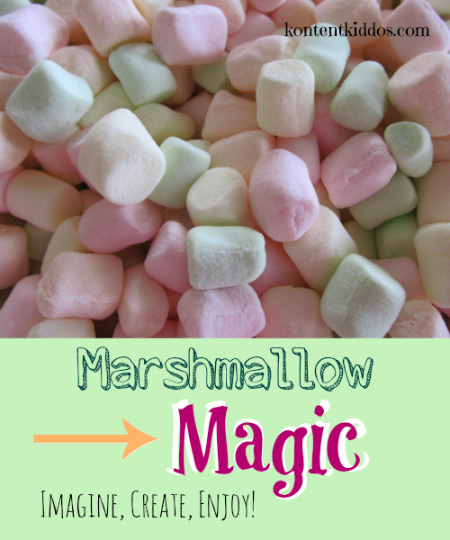 Use marshmallows to promote imagination and creativity.