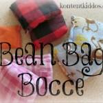 Homemade Bean Bag Bocce