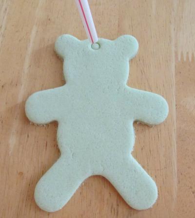 bear salt dough ornament