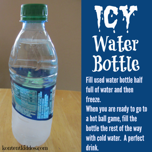 icy water bottle