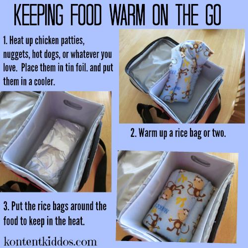 keeping food warm on the go