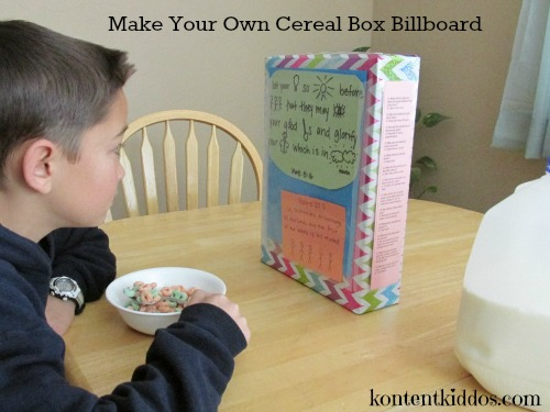 Make Your Own Cereal Box Billboard
