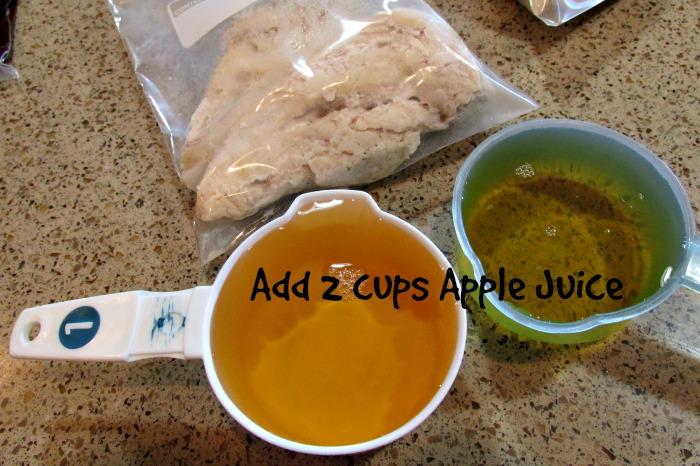 add apple juice