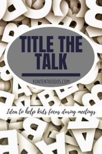 Title the Talk