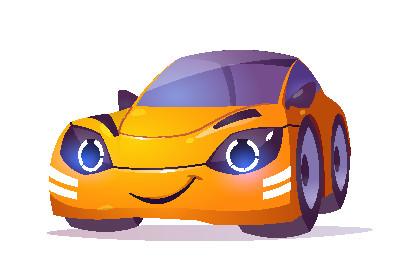 Auch ein Comicauto kann eine Unternehmenspersona darstellen.