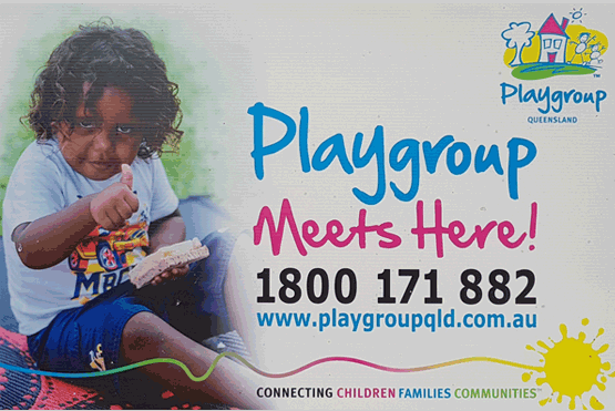 Photo of Koobara Playgroup sign as entering premises