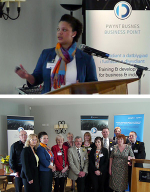 Hosted by Business Point, Coleg Llandrillos' business training unit in partnership with 'People 1st Cymru' sector skills council for hospitality & tourism at Bodnant Welsh Food