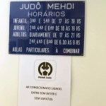 Sign at the dojo entrance
