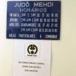 Sign at the dojo entrance