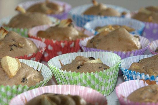 Appel kaneel muffins met krenten