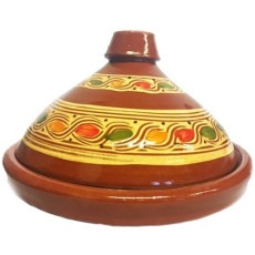 Marokkaanse aardewerk tajine geel2