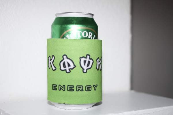 ITs just an energy drink officer can koozie